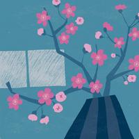 嵐の夜と桜