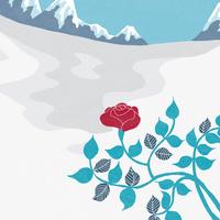 冬のバラ 02679000029| 写真素材・ストックフォト・画像・イラスト素材|アマナイメージズ