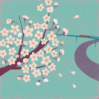 桜と電車 02679000040| 写真素材・ストックフォト・画像・イラスト素材|アマナイメージズ