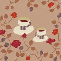 バラとコーヒータイム