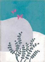 石と草と蝶 02679000073| 写真素材・ストックフォト・画像・イラスト素材|アマナイメージズ