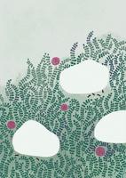 れんげ草の花と春の風