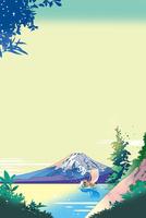 富士山の見える岬