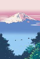 森から富士山 02694000013| 写真素材・ストックフォト・画像・イラスト素材|アマナイメージズ