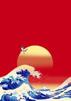 朝日の浪裏と富士