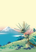 峠の松から富士
