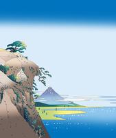 対岸の松から富士 02694000020| 写真素材・ストックフォト・画像・イラスト素材|アマナイメージズ
