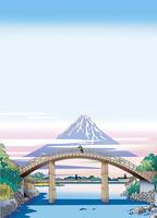 江戸の橋と富士