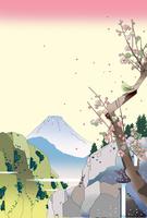 梅咲く初春の谷