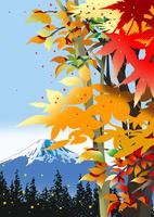 紅葉と富士 02694000039| 写真素材・ストックフォト・画像・イラスト素材|アマナイメージズ