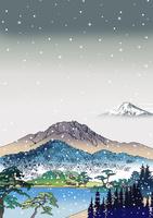 雪に霞む富士 02694000043| 写真素材・ストックフォト・画像・イラスト素材|アマナイメージズ