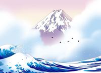 海に霞む富士 02694000050| 写真素材・ストックフォト・画像・イラスト素材|アマナイメージズ