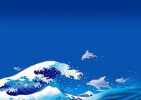 イルカと浪裏