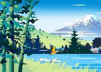 川蝉に富士