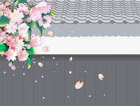 桜散る武家屋敷