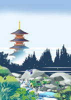 森の五重塔