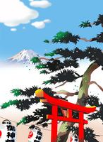 祭りに富士