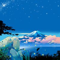 ホタル岩と富士
