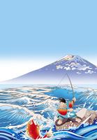 富士に恵比寿様