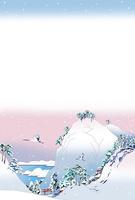 雪国の鶴2羽