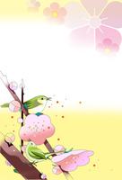 梅に遊ぶ鳥