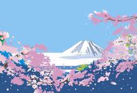 桜に富士を見る