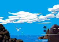 鴎飛ぶ入り江