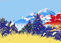 秋の森と富士山 02694000186| 写真素材・ストックフォト・画像・イラスト素材|アマナイメージズ