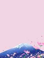 コスモスの咲く富士山 02694000189| 写真素材・ストックフォト・画像・イラスト素材|アマナイメージズ