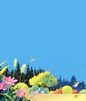 コスモスの咲く森の家