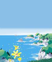 花の咲く岸壁
