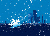 雪の降る街 02694000215| 写真素材・ストックフォト・画像・イラスト素材|アマナイメージズ