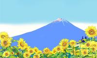 向日葵と富士