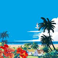 ハイビスカスの咲くビーチ