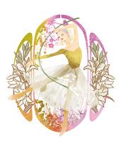 百合の花を背景に踊る女性 02697000004| 写真素材・ストックフォト・画像・イラスト素材|アマナイメージズ