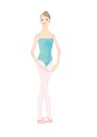 水色のレオタードでバレエのレッスンをする女性 02697000006| 写真素材・ストックフォト・画像・イラスト素材|アマナイメージズ