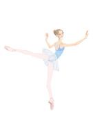 水色のレオタードでバレエのレッスンをする女性 02697000007| 写真素材・ストックフォト・画像・イラスト素材|アマナイメージズ