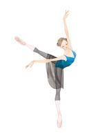 黒いタイツでバレエのレッスンをする女性 02697000008| 写真素材・ストックフォト・画像・イラスト素材|アマナイメージズ
