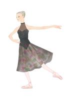 黒いレオタードでバレエのレッスンをする女性 02697000017| 写真素材・ストックフォト・画像・イラスト素材|アマナイメージズ