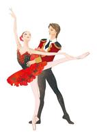 バレエを踊る男女 02697000018| 写真素材・ストックフォト・画像・イラスト素材|アマナイメージズ