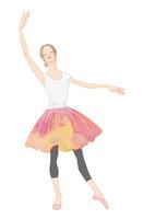 花柄のスカートを着て踊る女性 02697000026| 写真素材・ストックフォト・画像・イラスト素材|アマナイメージズ