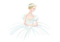 白い衣装のバレリーナ 02697000027| 写真素材・ストックフォト・画像・イラスト素材|アマナイメージズ