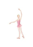 バレエのレッスンをする少女 02697000031| 写真素材・ストックフォト・画像・イラスト素材|アマナイメージズ