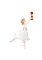 バレエ「くるみ割り人形」クララを踊る少女 02697000054| 写真素材・ストックフォト・画像・イラスト素材|アマナイメージズ