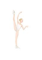 バレエレッスンをする白いレオタードの少女 02697000062| 写真素材・ストックフォト・画像・イラスト素材|アマナイメージズ