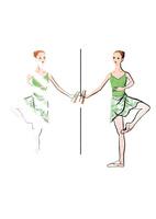 バレエのレッスンをする女性 02697000068| 写真素材・ストックフォト・画像・イラスト素材|アマナイメージズ