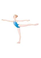 バレエのアラベスクのレッスンをする少女 02697000071| 写真素材・ストックフォト・画像・イラスト素材|アマナイメージズ