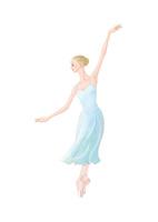 水色の衣装でバレエを踊る女性 02697000074| 写真素材・ストックフォト・画像・イラスト素材|アマナイメージズ