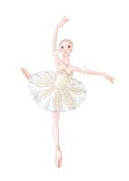 バレエ 白いチュチュを着て踊る女性 02697000089| 写真素材・ストックフォト・画像・イラスト素材|アマナイメージズ