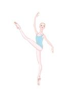 水色のレオタードを着てレッスンをする少女 02697000090| 写真素材・ストックフォト・画像・イラスト素材|アマナイメージズ